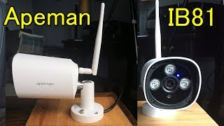 Apeman IB81 Camera Review.  Unboxing, set up, operation and sample video footage