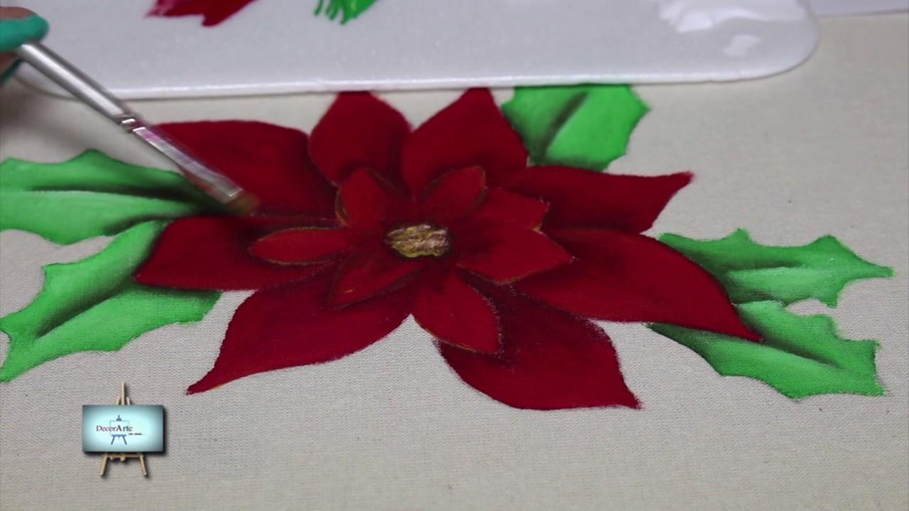 Camino de mesa navide o pintura en tela youtube - Pintura en tela motivos navidenos ...