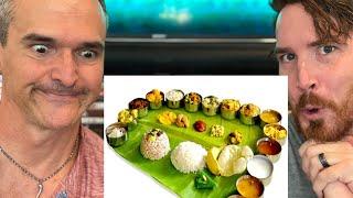 How to Serve a Sadya | Traditional Vegetarian Feast of Kerala | Onam Festival REACTION!!
