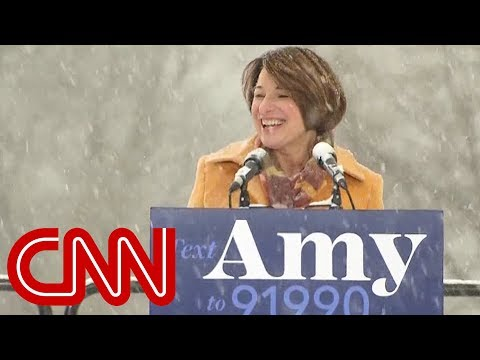 Amy Klobuchar throws her hat in the 2020 ring
