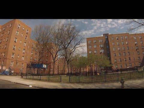 Streets of Red Hook, Brooklyn - Drive Through Hamilton, Lorraine, Dwight, Clinton, Van Dyke..