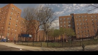 Streets of Red Hook, Brooklyn - Drive Through Hamilton, Lorraine, Dwight, Clinton, Van Dyke..