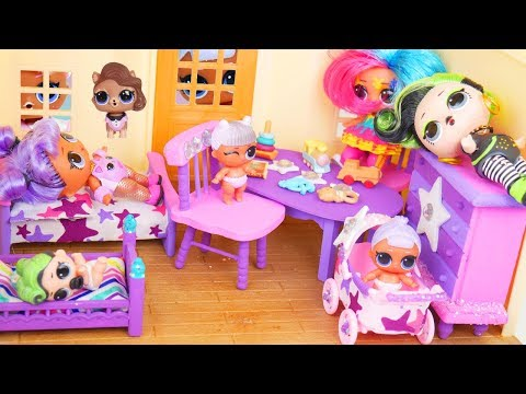 LOL Surprise Dolls Custom Bedroom Furniture with pets Hair Goals Diaries Episode