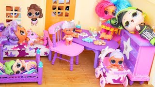 LOL Surprise Dolls Custom Bedroom Furniture with Fuzzy pets Hair Goals Diaries Episode