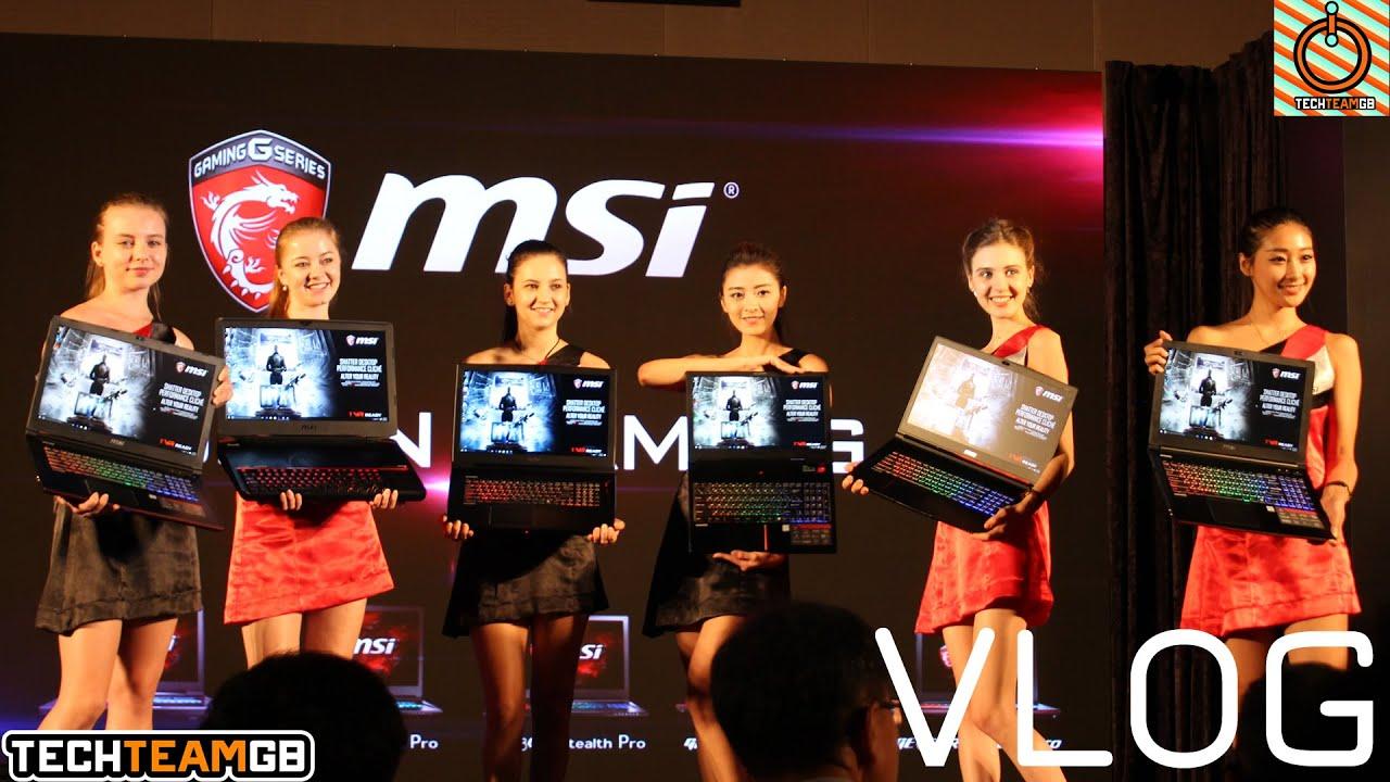 MSI Taipei VLOG (New gaming laptops)