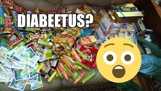 humongous candy extravaganza dumpster dive reveal