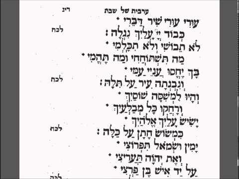 Kabbalath Shabbath 03 Read L'Cha Dodi  Alkabetz's Piyut  Spanish And Portuguese Minhag London.flv