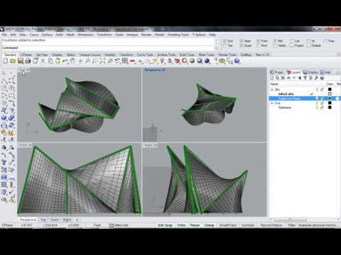 119 - Rhino - Phillips Pavilion Analysis Drawing Make 2d Plan Elevation Views