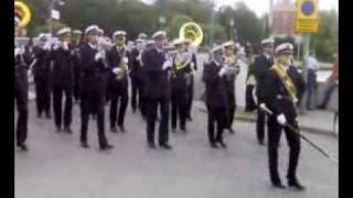 military band parade, including indian army band,  in stockholm, swedish tattoo 2006
