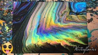 Fading Rainbow Fluid Art   Acrylic Pouring