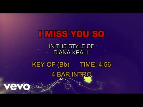 Diana Krall - I Miss You So (Karaoke)