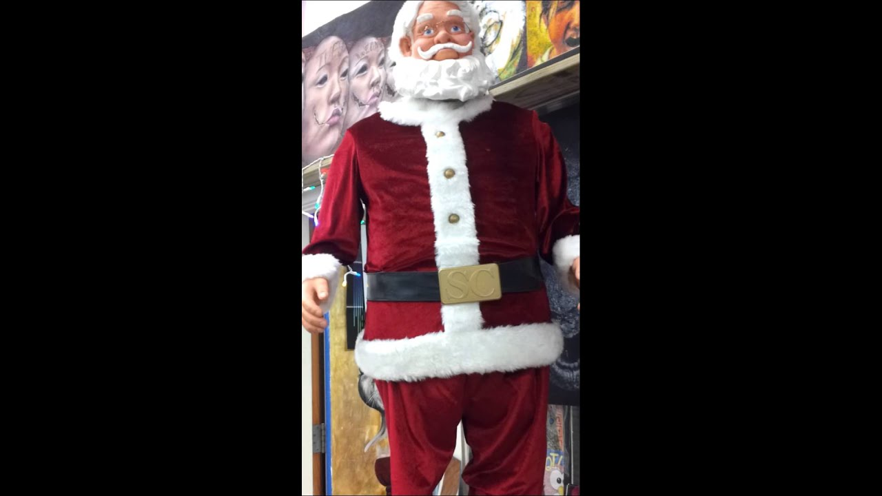 Santa Claus Toys : A toy santa claus dancing youtube