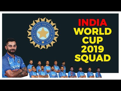 India National Cricket Team World Cup 2019 [15 Member Squad]