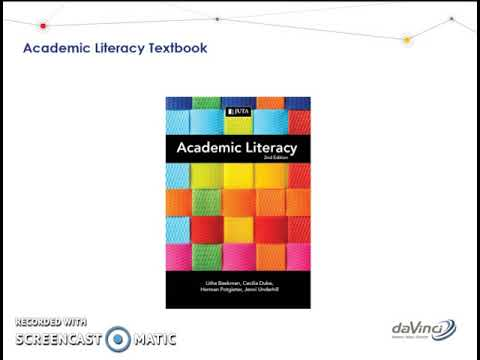 Academic Literacy Introduction
