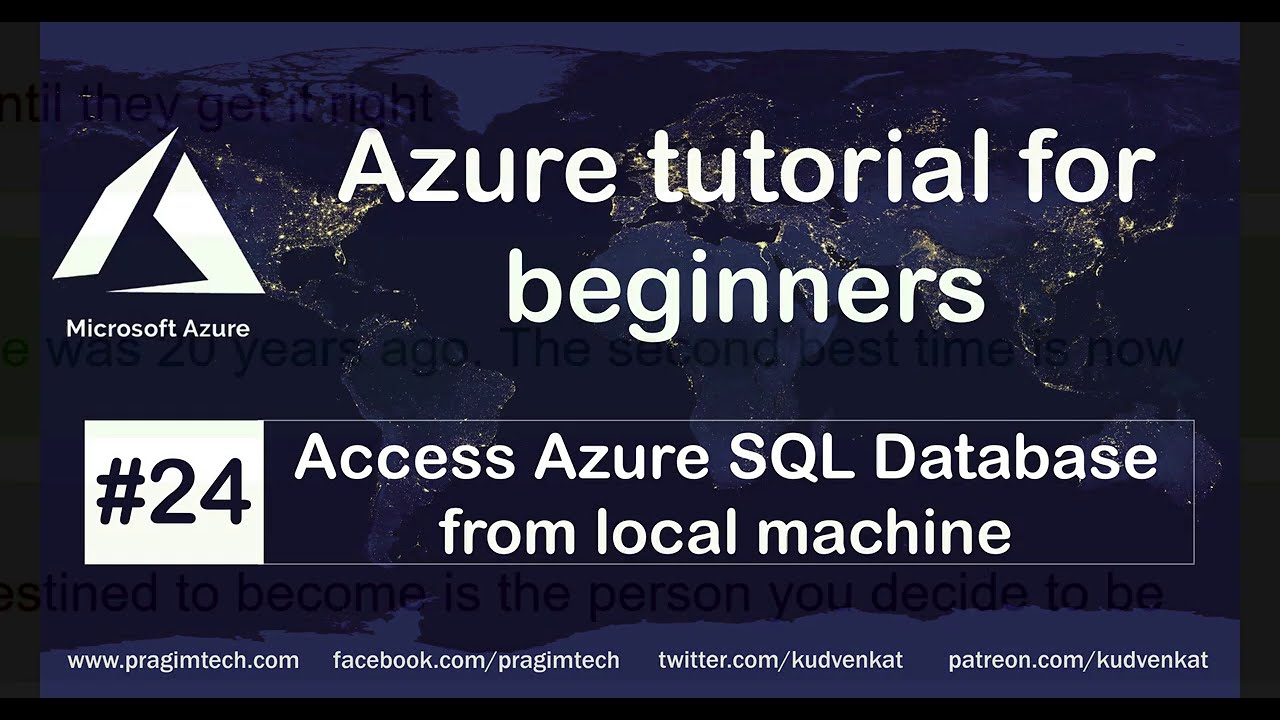 How to Access Azure Sql Database From Local Machine
