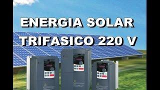 🐛PROJETO ENERGIA SOLAR TRIFÁSICO 220V🔬