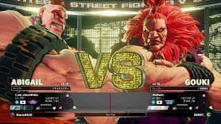 Storm Kubo (Abigail) vs Haitani (Akuma):ストーム久保(アビゲイル)vs ハイタニ(豪鬼)