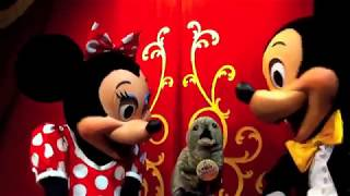Uncle Teddy puppet meet & greet with Mickey & Minnie Mouse @ Disney World