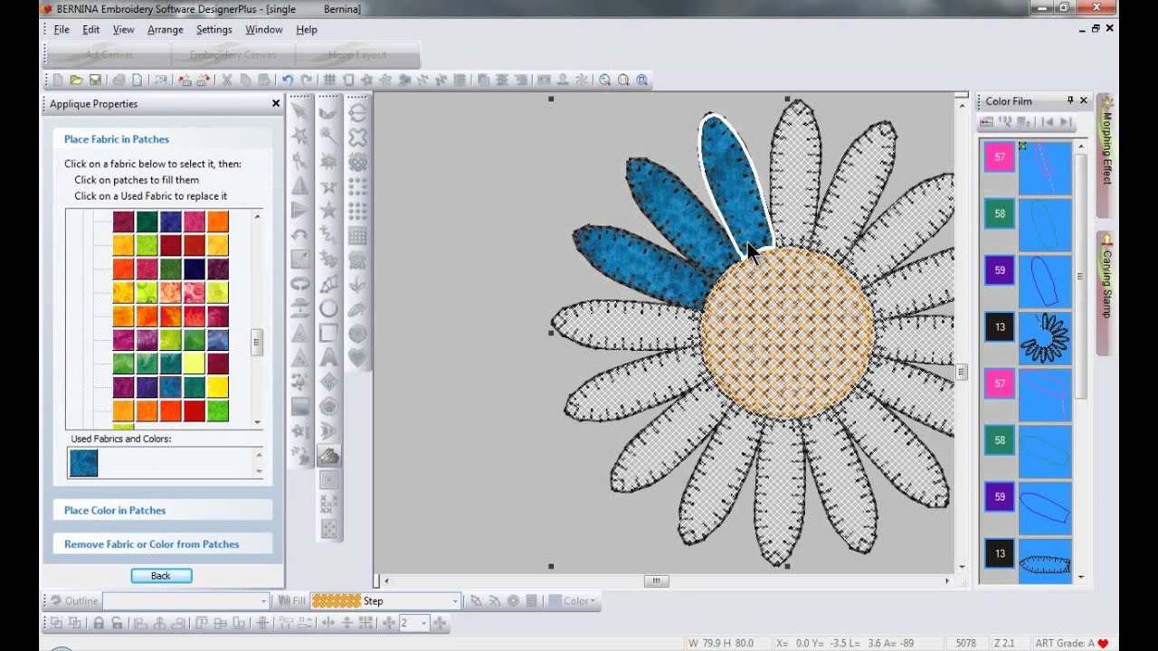 Bernina Embroidery Software 6 Advanced Applique Tool Tip 10 Youtube