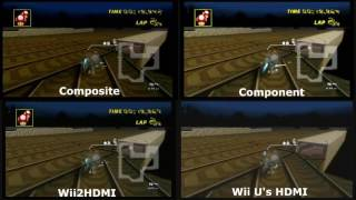 Elgato Video Recording Comparison Wii - Composite vs Component vs Wii2HDMI vs Wii U