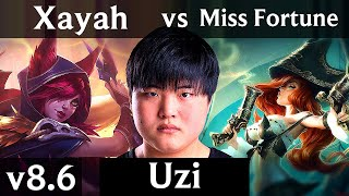 RNG Uzi - XAYAH vs MISS FORTUNE (ADC) /// Korea Challenger /// Patch 8.6