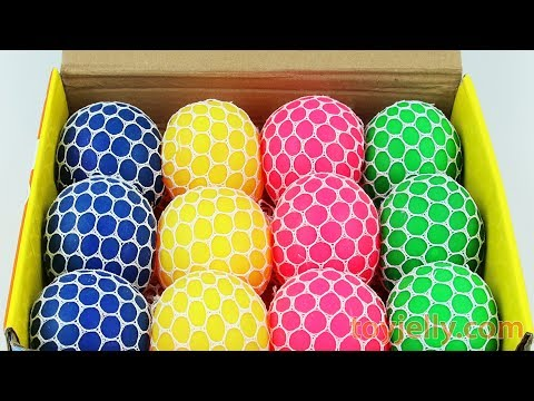 Thumbnail: Learn Colors Baby Finger Songs Kinder Joy Surprise Egg Squishy Slime Mesh Baby Toy Balls Box Playset