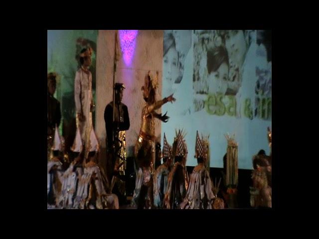 Tari Lambang sari live pawai / Balerung Stage Peliatan