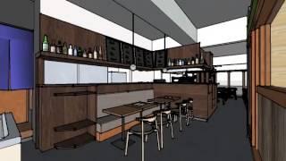 ウォークスルーで飲食店デザインの視点検討中 http://r-designlab.com.