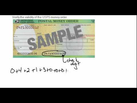 Validity of a USPS Money Order - YouTube