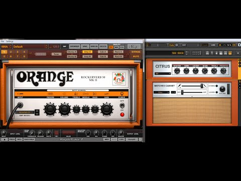 Amplitube 3 VS Guitar Rig 4 Orange amps
