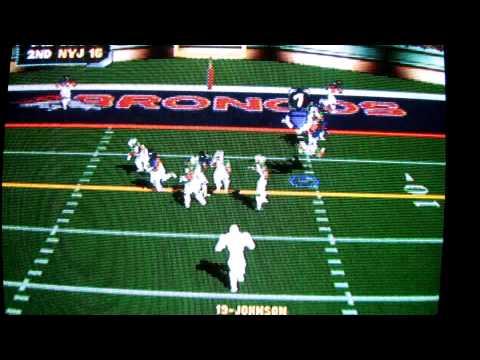 NFL BLITZ 2000 on N64! DENVER BRONCOS vs New York JETS! FULL GAME!
