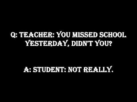 Funny Jokes To Tell Your Teacher - YouTube