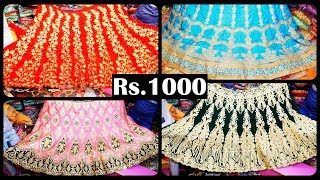 Rs.1000/. Onwards Exclusive Bridal lehengas @ Sowcarpet Ambey Sarees
