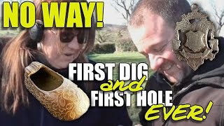 First Dig and First Hole EVER!!
