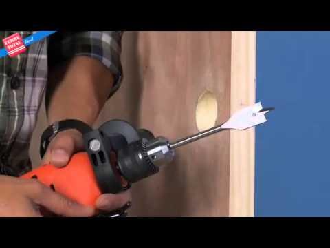 Ferretotal c mo instalar una cerradura pomo para - Como colocar puertas correderas ...