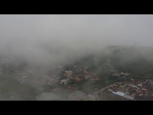 DJI Spark Fly In The Foggy Afternoon Short Clip | Lembang