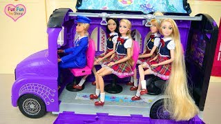 Monster High School Bus For Barbie doll& Disney Princesses Bus sekolah boneka Barbie Ônibus escolar