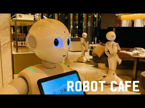 Tokyo's Robot Cafe'  The Next Generation Cafe'  Pepper Parlor Shibuya, Tokyo Japan