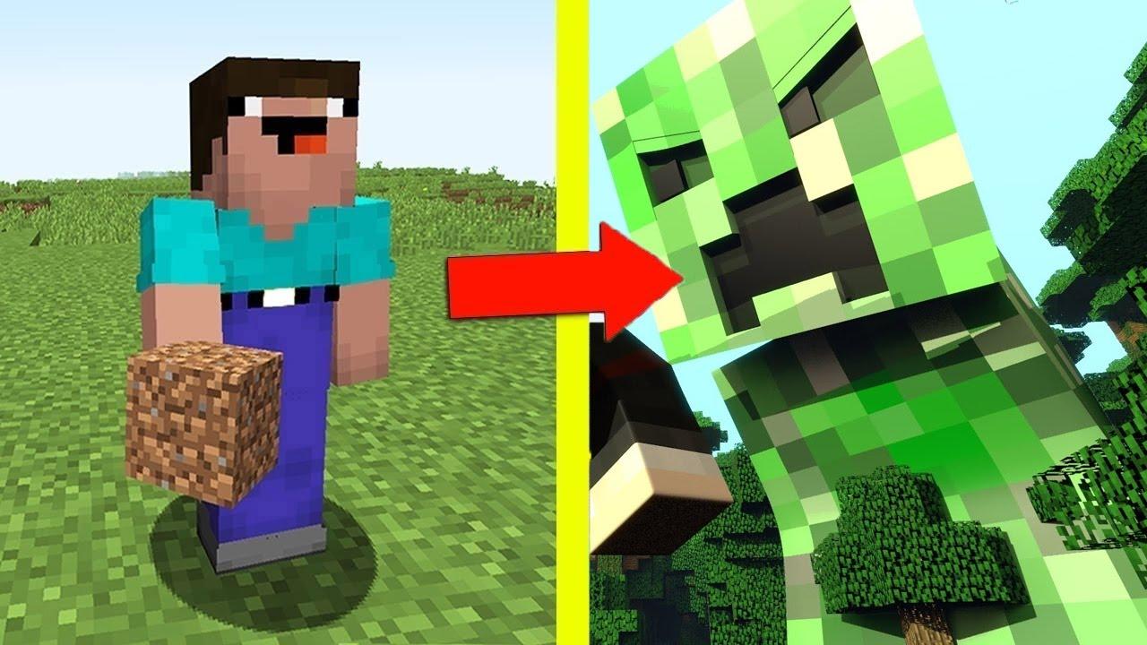 Realistic Minecraft Life: Noob vs Creeper - Minecraft