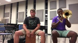 let it whip dazz band trombone cover feat grant exline cajon