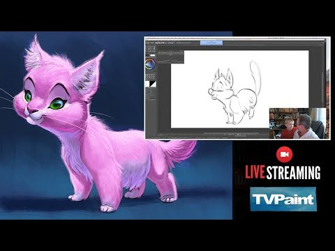 Live Stream - Animating a Cat Character in TVPaint