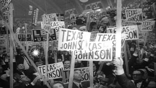 Democratic Lyndon B Johnson elected as President of United States for his second ...HD Stock Footage