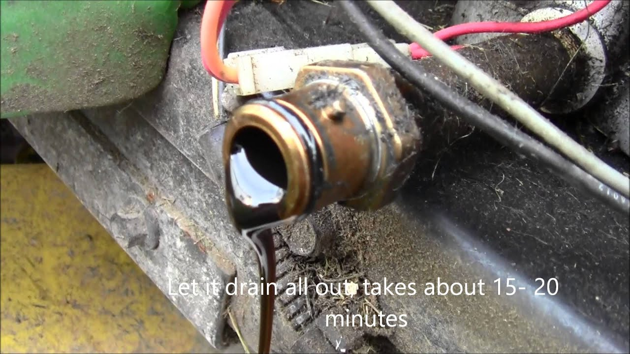 How To Change Oil On John Deere La100 Series Riding Lawnmower Youtube Tractor Tunes Wiring Diagram