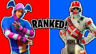 Ranking New Fortnite Skins! Medics, Rock Stars, Helicopter Glider & More!