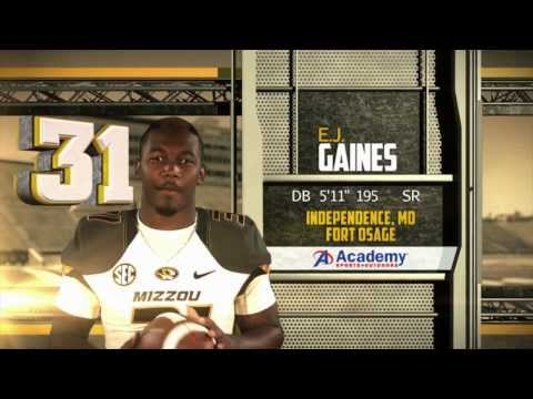 2013 Mizzou Cornerback of the Year: E.J. Gaines