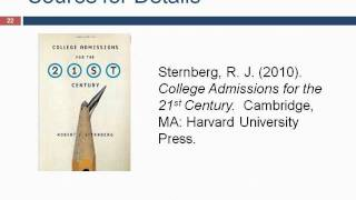 Webinar 6/21/12 - Beyond Standardized Tests with Dr. Robert Sternberg