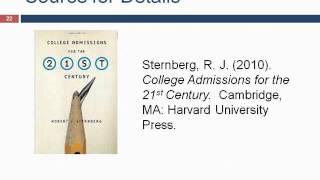 Webinar 6/21/12 - Beyond Standardized Tests with Dr. Robert Sternberg