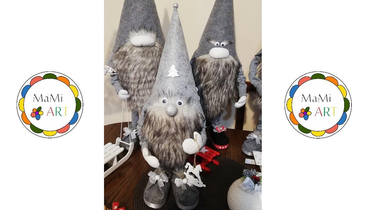 Jak Zrobic Stojacego Skrzata Z Rekami Christmas Gnomes Diy Ozdoby Swiateczne Dekoracje Na Swieta Youtube