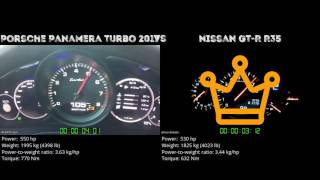 Porsche Panamera Turbo 2017 vs. Nissan GT-R R35 - the 0-100 km/h du...