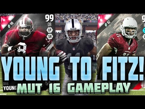 99 OVR STEVE YOUNG THROWS DOTS!! LARRY LEGEND!! MUT 16 GAMEPLAY |  Madden 16 Ultimate Team